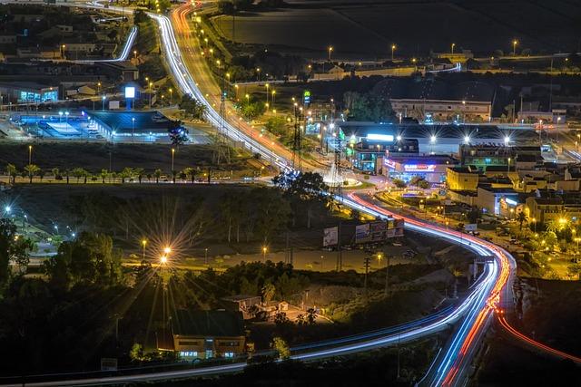 Lights, Road, Night, City, Cars, Lighting, Lorca
