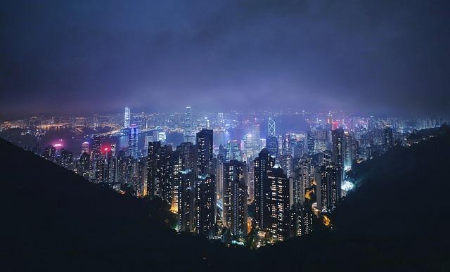 Buildings, City, Night, City Lights, Skyscrapers