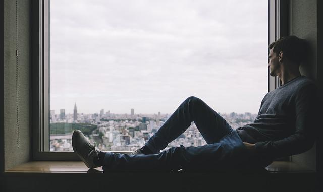 Alone, City, Man, Person, Solo, Window