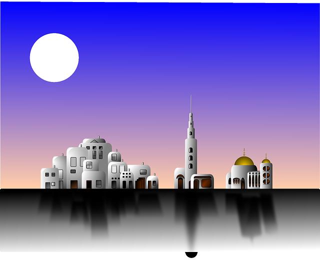 City, Islamic, Arabic, Mosque, Building, Architecture
