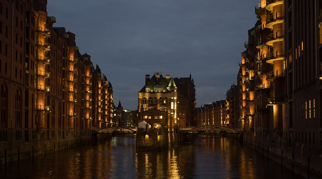 Hamburg, City, Night, Lights, Night Photography