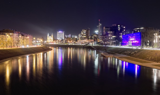 Vilnius, Night, City, Urban Landscape, Lithuania