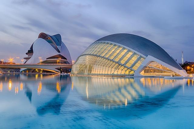 Valencia, Spain, Calatrava, Sunset, City Of Arts