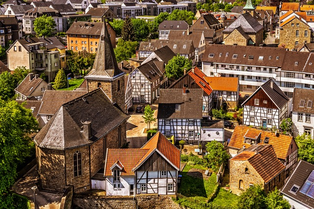 City, Homes, Small Town, Architecture, Old Town