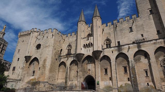 Avignon, Palais Des Papes, City, Downtown, France