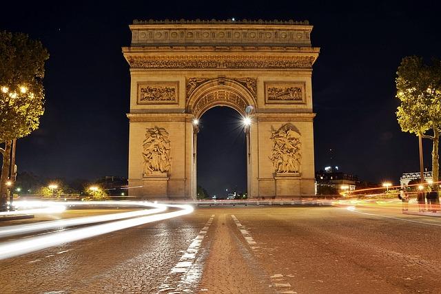 Arc De Triomphe, Arc, Triomphe, Paris, France, City