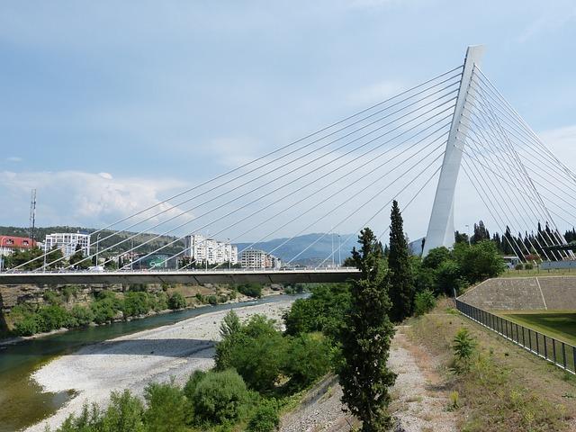 Podgorica, Suspension Bridge, Montenegro, City, Capital