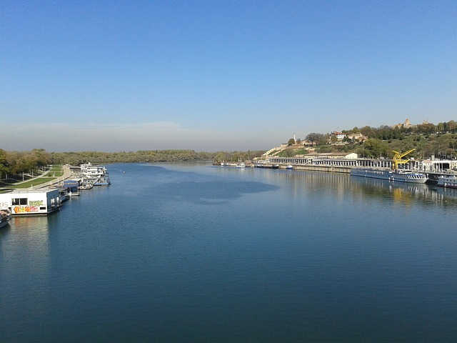 Belgrade, Serbia, River, City, Town, Water Blue, Port