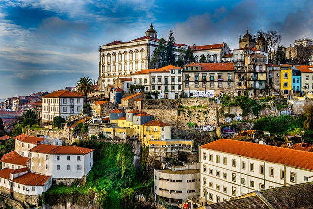 Porto, Portugal, City, Houses, Roofs, Hill, Building