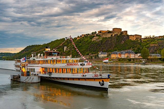 Koblenz, Ship, Rhine, Ehrenbreitstein, City