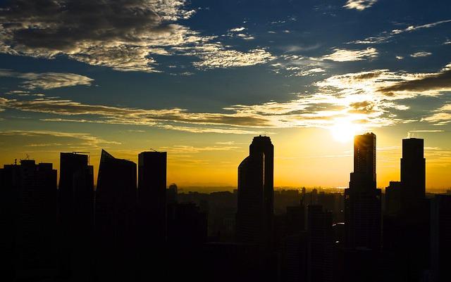 Skyline, Sunset, Buildings, Cityscape, Urban, City