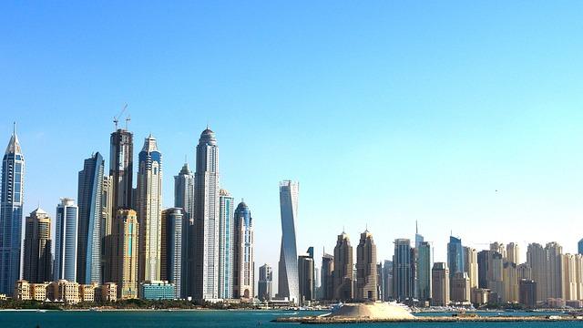 Skyline, Dubai, Skyscrapers, City, Architecture, Tower
