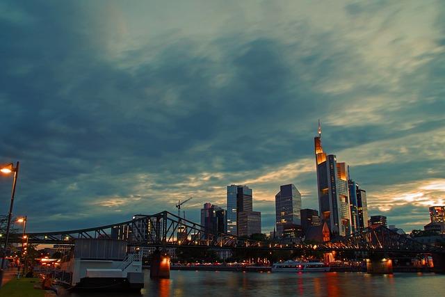 Skyline, Frankfurt, Frankfurt Main, Skyscraper, City