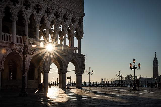 Venice, Doge's Palace, Square, Architecture, City