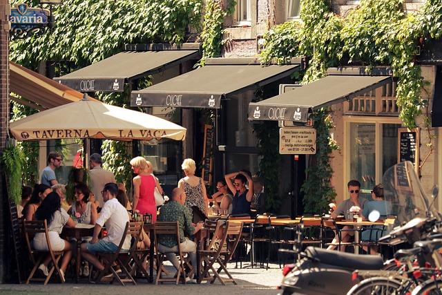 City, Street Cafe, Gastronomy, Restaurant