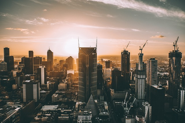 City, City Sunset, Horizon