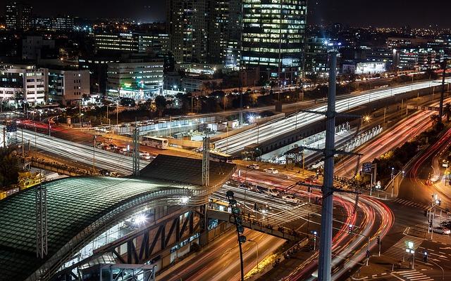 Tel-aviv, Trainstation, Night, Israel, Dark, City