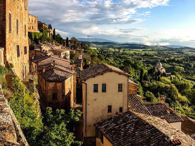 Montepulciano, Toscana, Italy, City, Landscape
