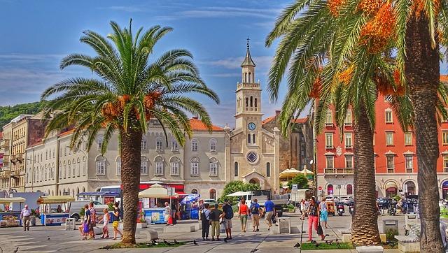 Tourism, Travel, Architecture, City, Palm, Road