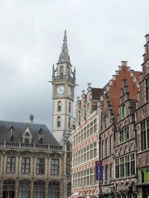 Architecture, City, Travel, Old, Tower, Belgium