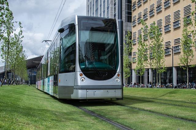 Tram, Train, City, Urban, Transportation