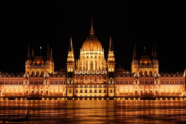 Architecture, River, Travel, Illuminated, City