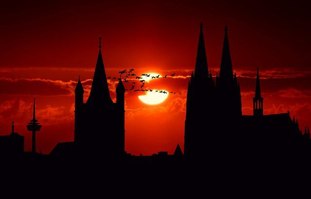 Cologne, City, City View, Cologne Cathedral