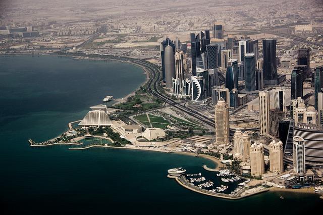 Dubai, City, Skyscrapers, Modern, Water, Buildings, Sea