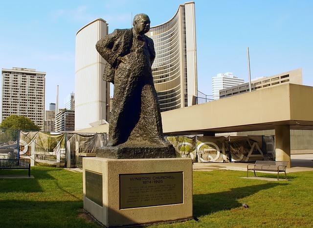Canada, Toronto, Winston, Churchill, City hall