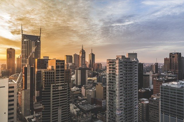Architecture, Building, Business, City, Cityscape, Dawn