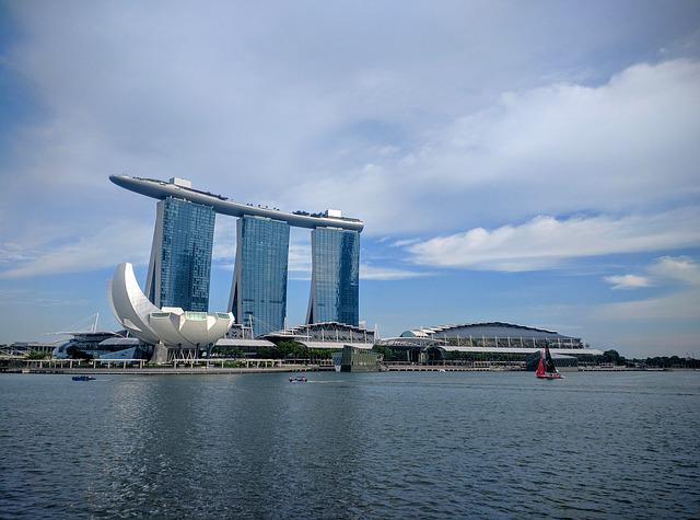 Marina Bay, Waterfront, City, Bay, Cityscape, Skyline