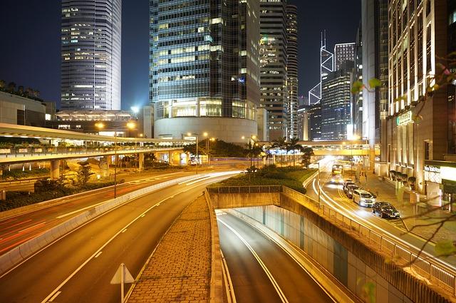 Road, Traffic, City, Skyscraper, Car, Modern, Cityscape