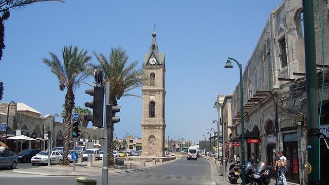 City, Scene, Urban, Cityscape, Tower, Clock