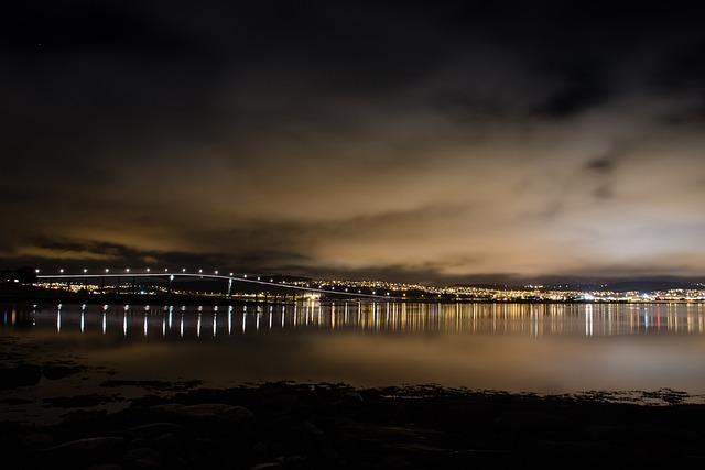 City Lights, Night, Tromso, City, Cityscape, Skyline