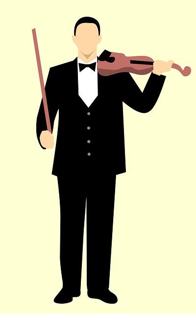 Violin, Man, Adult, Caucasian, Cheerful, Classic