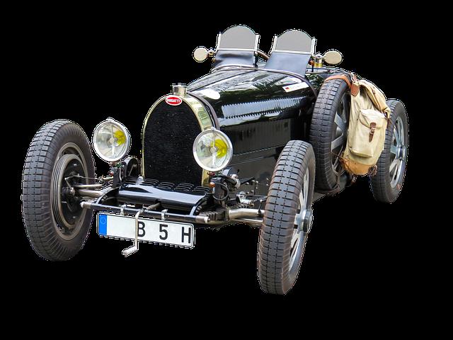 Oldtimer, Automotive, Bugatti, Isolated, Classic, Auto