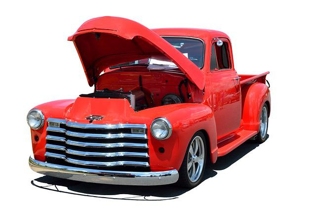 Red Truck, Classic, Retro, Isolated Background