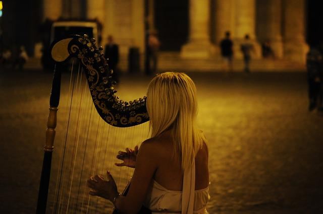 Harp, Musical Instrument, Classical, Acoustic, Concert