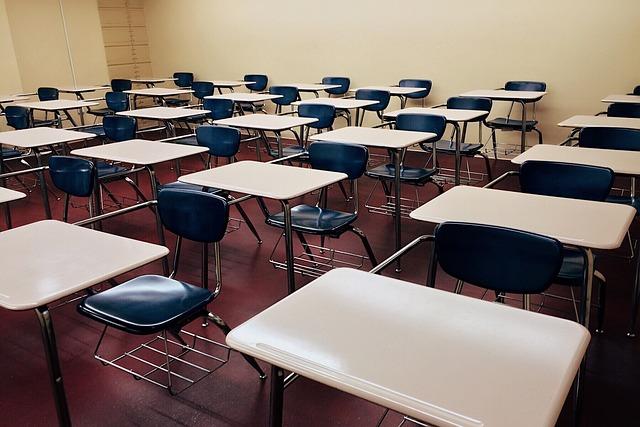 Classroom, School, Desks, Rows, Education