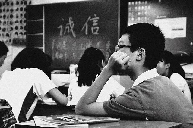 Students, Classroom, School, Sad, Education, Young
