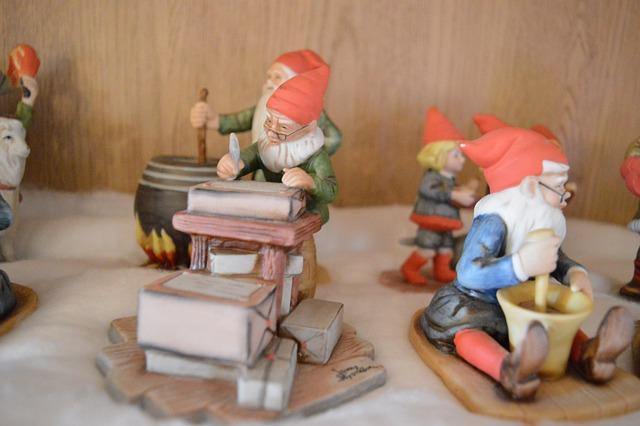 Claus, Gnomes, Christmas, Christmas Eve, Ceramincs