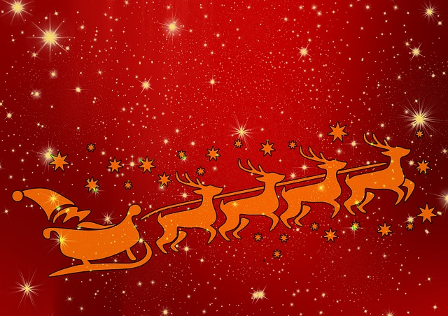 Santa, Reindeer, Christmas, Claus, Winter, Holiday