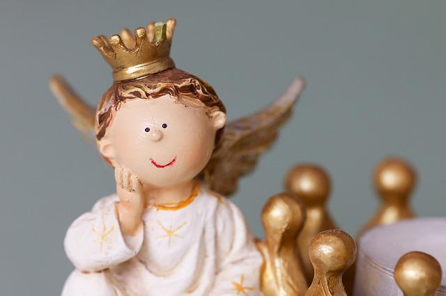 Angel, Crown, Clay Figure, Christmas Time