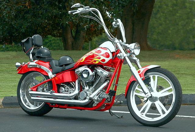Motorcycle, Chopper, Shiny, Clean, Tires, Chrome, Bike