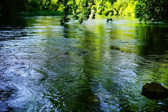 Sorgue, Water, Clear, Green, Blue, Shimmer, Frisch