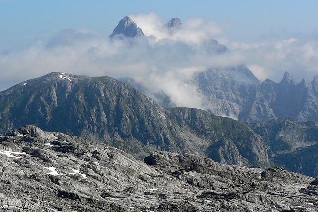Steinernes Meer, Austria, Mountains, Clear, Stones