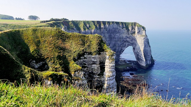 France, Normandy, Coast, Cliff, Beach