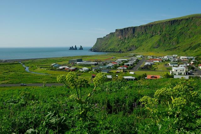 Iceland, Vik, Cliff, Beach