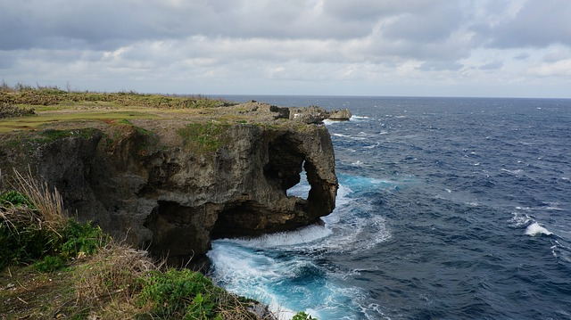 Manza-mo, Cliff, Beach, Okinawa Prefecture