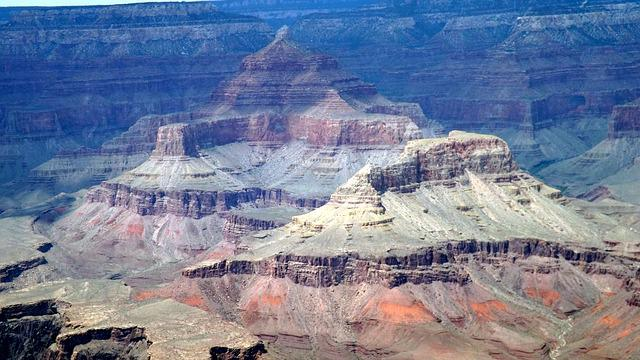Grand Canyon, Cliff, Scenery, National Park, Striations